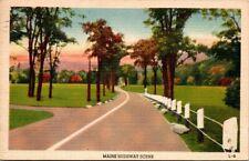 Postcard Maine Highway Scene