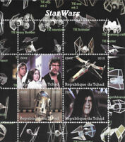 Chad 2015 Star Wars 4 Stamp Sheet  3B-382