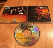 Brutality - When The Cielo Turns Negro CD 1st Us Press Disincarnate Morbid Angel