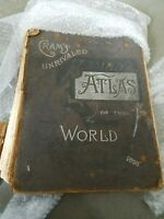1898 Crams World Atlas vintage.