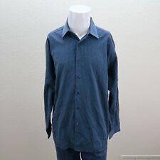 Mens Ben Sherman Blue Striped 100% Cotton Long Sleeve Button Up Shirt XL