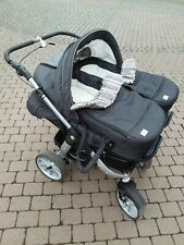 Teutonia Zwillingswagen mit Babyschalen Geschwisterwagen