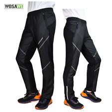 Men's Winter Sports Trousers Fleece Thermal Long Pants Windproof Cycling Tights