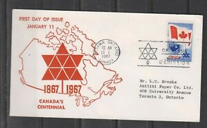 Can 453 - 1967 5c Centennial of Confederation - FDC