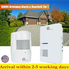 1000Ft Waterroof Driveway PIR Motion Sensor Alarm Alert System Wireless Doorbell