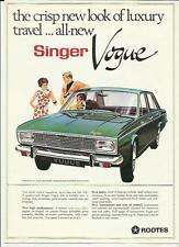 ROOTES SINGER VOGUE SALES BROCHURE 1966/1967