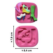 Moule silicone 3D Chaussures pâte à sucre, cake design, décoration gateau...