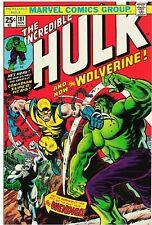 Incredible Hulk #181 Facsimile Reprint Cover Only Key 1st Full Wolverine Key