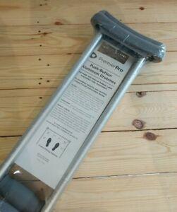 Adult Crutches Lightweight Medical Aluminum 5'10 - 6'6 Adjustable Axillary 300lb