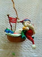 MISTLETOE MAGIC CHRISTMAS ORNAMENT Sewing elf VINTAGE RARE 1990s  DV53