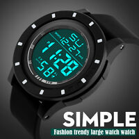 Men's Fashion LED Digital Sport Touch Screen Day Date Silicone Band Wrist Watch