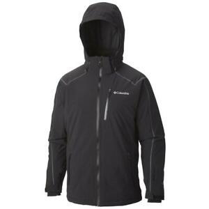 COLUMBIA Millenium Burner Mens L Black Winter Parka/Jacket/Coat Omni-Heat $330