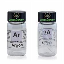 Argon gas element 18 sample Ar 99,9% mini ampoule in labeled glass vial