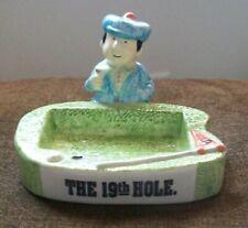 Fitz & Floyd The 19th Hole Golfer Soap Dish / Business Card Holder Golf