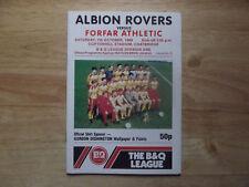 Albion Rovers v Forfar Scottish Division 1 07/10/89