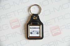 Sunbeam Rapier Keyring - Leatherette / Chrome Retro British classic car keyfob