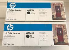 2-New Genuine HP Color LaserJet (Q3960A) 2550 2820 2840 Printer Toner  *Black *