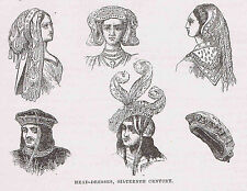 Hats & Head-Dresses of the 16th Century - 1878 Page of English History