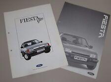 Auto Prospekt Katalog Ford Fiesta Ghia + Technik, Maße und Gewichte Januar 1987!