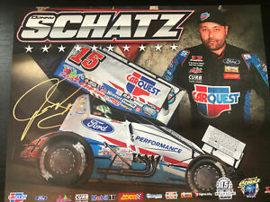 2021 Donny Schatz Signed World Of Outlaws Handout Postcard