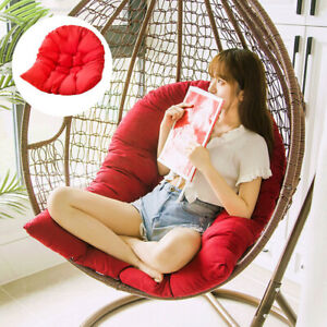 Thicken Hanging Chair Cushion Solid Color Soft Garden Cradle Pads Cover