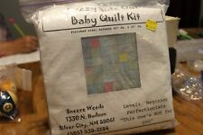 Fuzzy Side Out Baby Quilt Kit for Girls