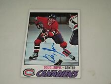 DOUG JARVIS AUTOGRAPHED 1977 TOPPS HOCKEY CARD-CANADIENS