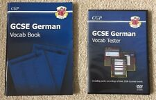 CGP GCSE GERMAN VOCAB TESTER - book and DVD-ROM recording over 2,500 words NEW