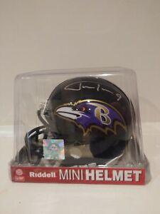 Justin Tucker Signed Autographed Baltimore Ravens Black Mini Helmet