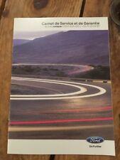 Carnet D Entretien Ford D Origine Neuf Et Vierge
