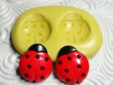 "LADY BUG Mold Mould Flexible Fimo 5/8"" Tall Silcone Polymer Clay Fondant Push"