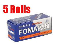 5 Rolls Foma Fomapan 200 Creative 120  B&W Medium Format  Film Fresh 2022