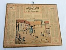 Almanach  Calendrier 1924