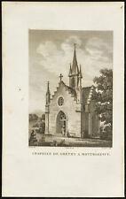 1829 - Gravure Chapelle de Gréty à Montmorency