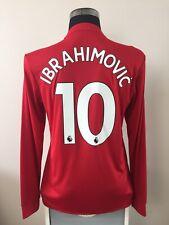 IBRAHIMOVIC #10 BNWT Manchester United LS Home Football Shirt Jersey 2017/18 (M)