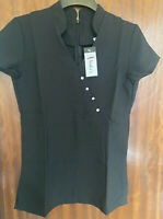Hairdressing Beauty Spa Nail Salon Therapist Tunic Uniform Size 10 Black BNWT