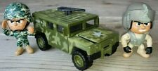 Lot pvc Figures + SOMA MIGHTY WHEELS US ARMY MILITARY CAMOUFLAGE TRUCK HUMVEE