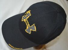 Under armour Cap Hat Adjustable Size for Junior Gold Embroidery in Black