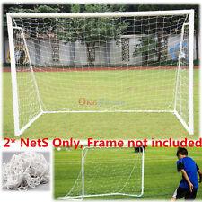 2 Pcs 6x4FT Football Soccer Goal Post Net for Football Soccer Sport Training