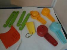 10 Vtg Tupperware Gadgets Kitchen Tools Egg Separator Funnel Cord Shortners