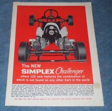 "1960 Simplex Challenger Vintage Kart Ad "".Offers 125 New Features."""