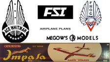5X Plans Combo.Ace Whittman, Fsi, Frog, Megow & Vernon Kit Plans on Cd