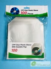 1000 Cd Dvd Cpp Premium Clear Plastic Sleeve With Sealable Flap100 Micron