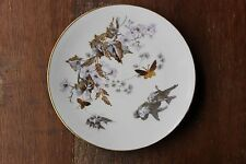 ERNST WAHLISS Birds Insects Gold Gilted Decoration Salad Plates 2682 Set 6 RARE