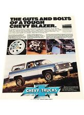 1980 Chevrolet Blazer Vintage Advertisement Print Car Ad J440