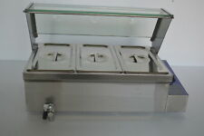 Techtongda 3-Pan Food Warmer Countertop Steam Table 110V 1500W Us Seller