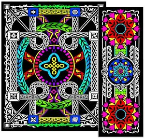 Geometric Vine - Large 23x20 Inch Fuzzy Velvet Coloring Poster