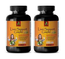 liver detox - LIVER SUPPORT COMPLEX - siberian ginseng powder - 2 Bot 200 Caps