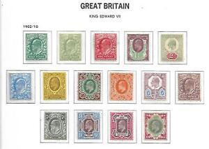 GB - EDVII - 1902/13 - Basic Set of 15 - LMM