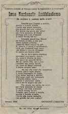 Inno Nazionale Antiblasfemo - Giovanni Ceriotto - Verona 1922